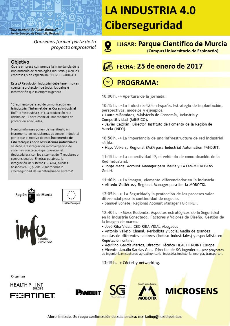 Evento Ciberseguridad 25 de enero del 2.017
