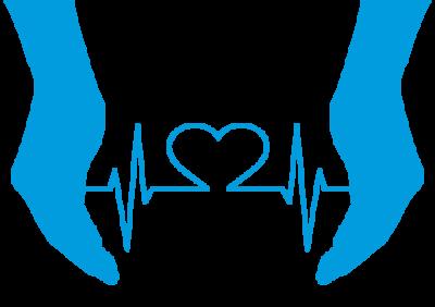 cardiograma entre manos